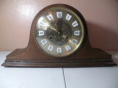 VINTAGE NAPOLEAN'S HAT MANTLE CLOCK BY HALLER Parts Repair