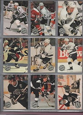 ProSet Platinum Hockey 1991-1992 complete set all in nine card pages