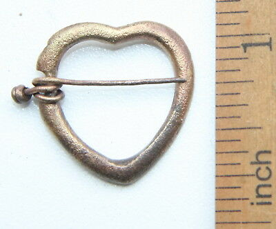 "Ancient Old Bronze Fibula ""Heart Shape"" (NOW01)"