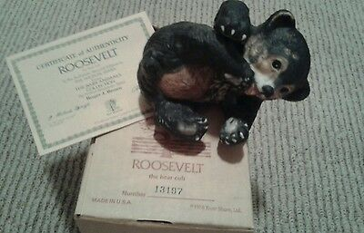 Roosevelt the Bear Cub from Baby Animals Collection, Authentic Cert.