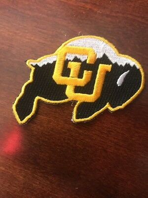 """CU Colorado Buffaloes Vintage Embroidered Iron On Patch (MINT) 3.5"""" x 2.25"""" NICE"""