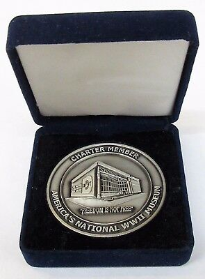 NATIONAL D-DAY WWII MUSEUM Charter Member New Orleans BOXED Medal medallion