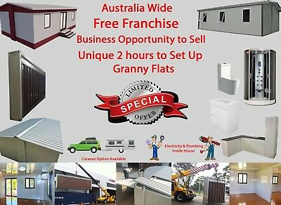Australia Wide Franchise Business Opportunity & 2 Hours to Set Up Granny Flats