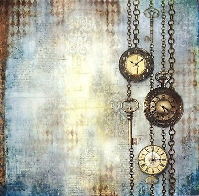 Rice paper -Clockwise Chains- for Decoupage Scrapbooking Sheet