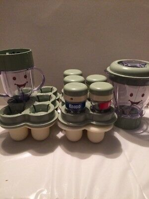 Baby Bullet With Storage Containers-Missing Blender base-Good/Clean Condition