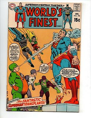 "World's Finest Comics #190 (Dec 1969, DC) VF 8.0 ""BATMAN & SUPERMAN"""