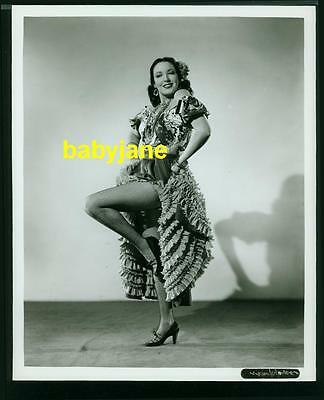 Linda Darnell Vintage 8X10 Photo 1940 Spanish Costume Pinup Fishnet Stockings