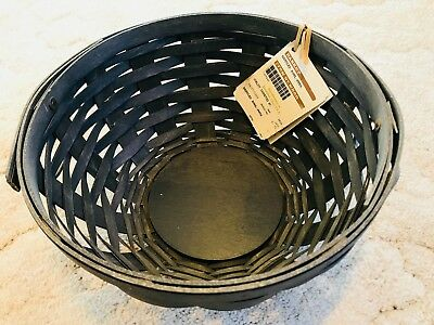 Longaberger 2016 LARGE HANDLED BOWL BASKET. *PEWTER*.   RETIRED!