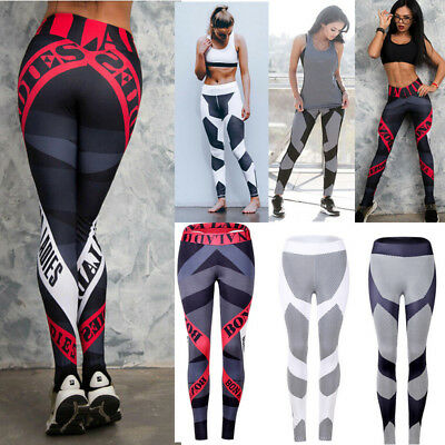 Women Compression Sport Leggings YOGA Fitness Gym Stretchy Workout Pants Trouser