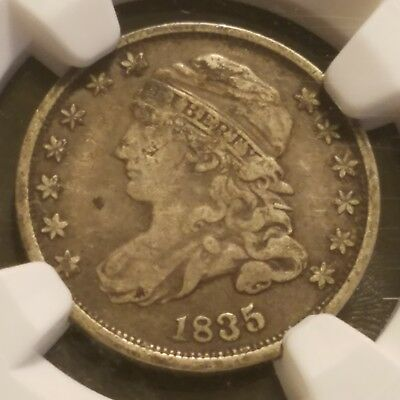 1835 10c NGC F15 Capped Bust Dime