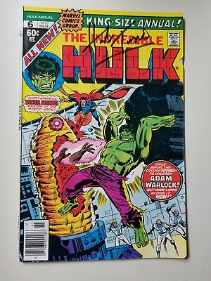 The Incredible Hulk, Hulk Annual #6, Signed by Herb Trimpe IN PERSON