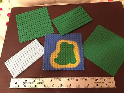 Lego mixed lot of 5 pieces Base Plates. Nice fun items. LOW SHIPPING!!!!