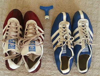 Vintage 1975 Adidas Saturn and Avanti Track Spikes and spike wrench