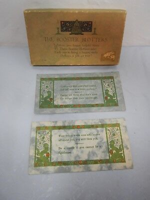 """2 Vintage blotters in original box """"The Booster Blotters"""" Rust Craft, Boston"""