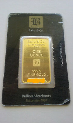 1 oz Gold Bar. Baird and Co. Sending from Australia.