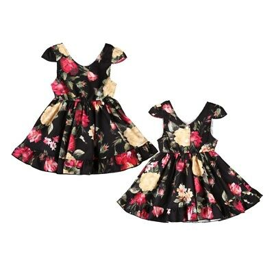 Toddler Kids Baby Girl Princess Dress Floral Pageant Wedding Party Tutu Dresses