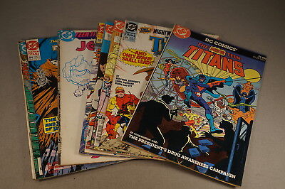 1980's The Teen Titans Comic Book Group Lot Of 10 Comics (Inv. 053)