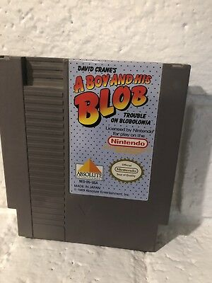 A BOY AND HIS BLOB TROUBLE ON BLOBOLONIA NES Nintendo NES Free Shipping
