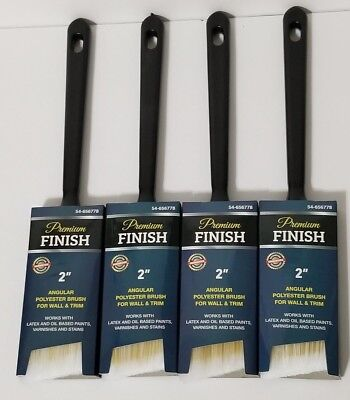 """Lot of 4Painter's premium 2-inch Angle Sash All Purpose Paint Brushes, 2"""" 11.5"""""""