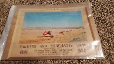 vintage calender 1968 farmers merchant bank north Dakota