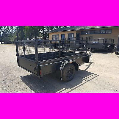 7x5  box trailer with cage heavy duty local made caged trailer