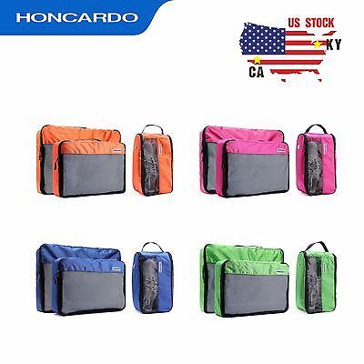 HONCARDO Luggage Organizer Travel Packing Cubes Water Resistant Clothes Shoe Bag