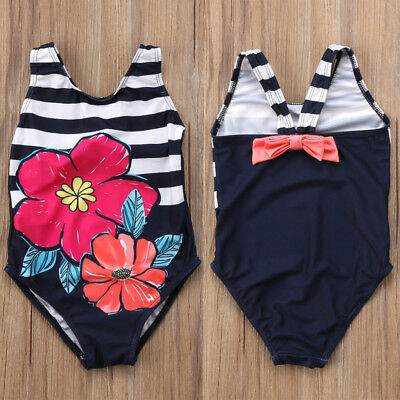 Cute Toddler Kids Girls Floral Bikini Swimwear Summer Swimsuit Swimming Costume