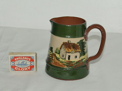 """Torquay Pottery 4.25"""" Jug With Faience Decoration"""