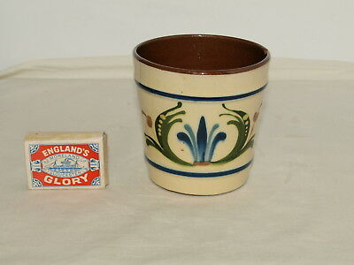 "Aller Vale Torquay Pottery 3.5"" High Flower Pot With Scandy & Motto"