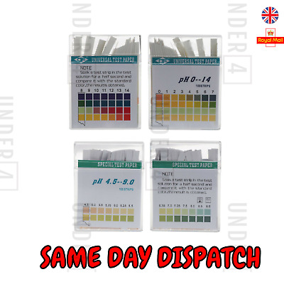 1 OR 100 STRIPS ALKALINE pH DUAL TEST STRIPS KIT URINE SALIVA pH FOR BODY LEVELS