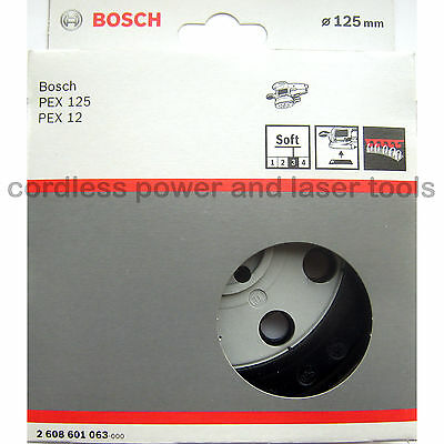 Bosch SOFT Sanding Pad 125mm Rubber Base Plate PEX 12 125 A AE A-1 2608601063
