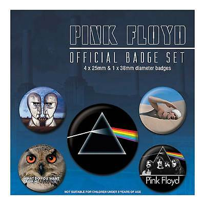 Pink Floyd Badge Pack Darkside of the Moon Mixed Designs Official New 5x Button