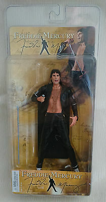 Queen Freddie Mercury RARE Black Leather Version NECA 2006 Action Figure NIP