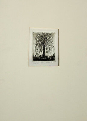 Etching Original,  Signed,  Mary Lou Hess, Noted Indiana Artist