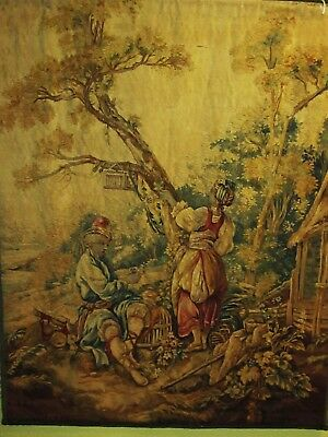 Very Fine Hand Made Antique Tapestry.