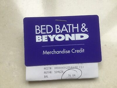 Bed Bath and Beyond Merchandise Credit & Gift Card - $76.04 Balance-Ships Today