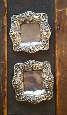 Two Beautiful Antique Gorham Sterling Silver Small Plate Dishes trays