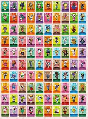 Animal Crossing Amiibo Series 4 Cards- All Cards 301 > 400 Nintendo 3Ds & Wii U