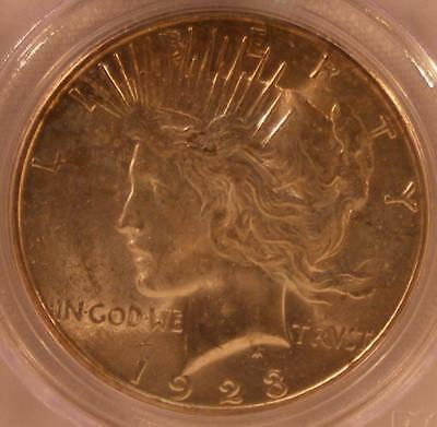 UNCIRCULATED 1923 S  Peace Silver Dollar PCGS MS 64