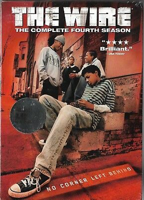 The Wire - The Complete Fourth Season (DVD, 2007, 4-Disc Set) Brand New Sealed!