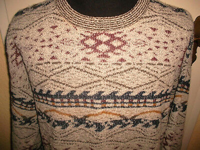 vintage italy FRANCO RIZZI Pullover Wolle Nylon Strickpulli oldschool 80er L
