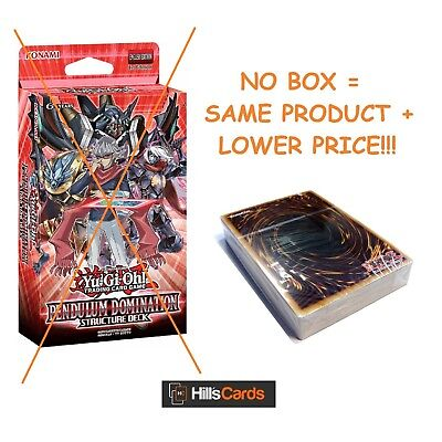Yu-Gi-Oh Cards - NO BOX - Pendulum Domination Structure Deck - SDPD - D/D/D TCG