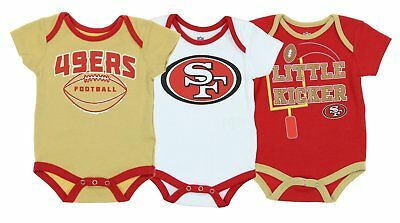 "NFL Infant San Francisco 49ers ""3 Points"" 3 Piece Bodysuit Set"