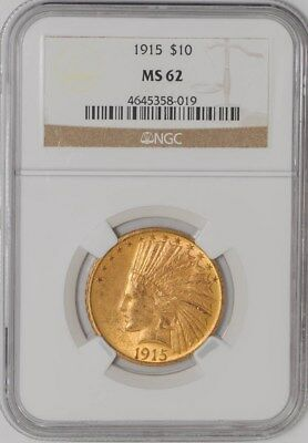 1915 $10 Gold Indian #4645358-019 MS62 NGC