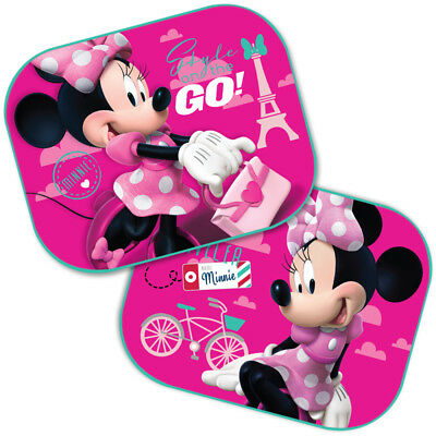 2 Designs Minnie Baby Girl Car Rear Side Window UV Mesh Sun Shades Blinds 44x35