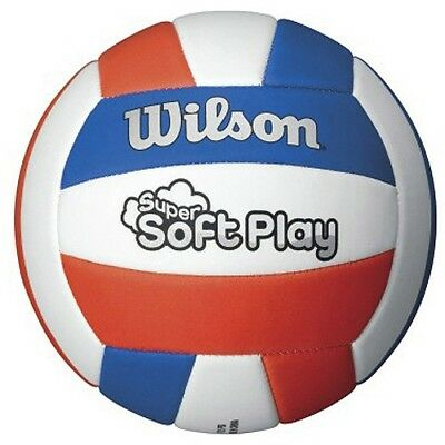 (orange/blue) - Wilson Super-Soft Play Volleyball. Shipping is Free