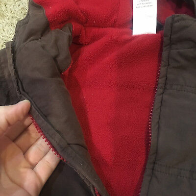Gymboree Boy Brown & Red Puffer Coat 6-12 months