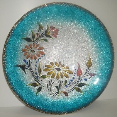 large rene bonhomme limoge france enamel on copper bowl