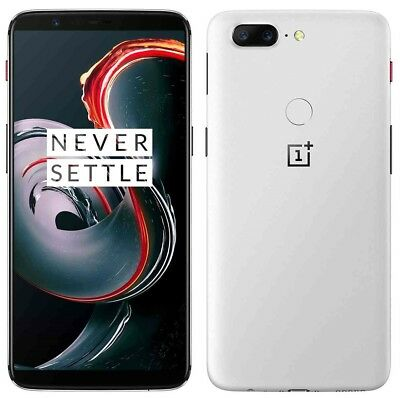 "OnePlus 5T 128GB Sandstone White A5010 (FACTORY UNLOCKED) 6.0"" 16MP 8GB RAM"