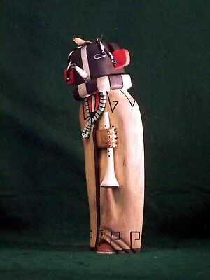 Hopi Kachina Doll - Kokopelli, the Flute Player - Lovely!